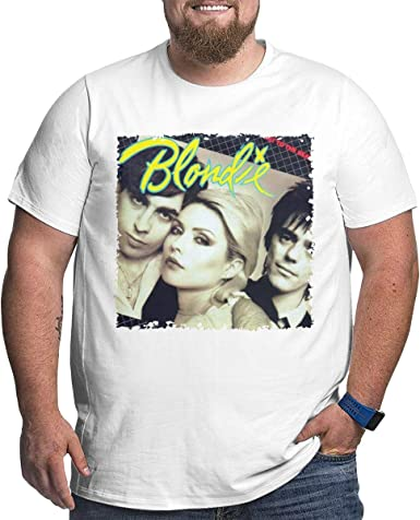Nanatang Blondie Eat to The Beat Men Short Sleeve Round Neck Oversize T-shirtsFashion White