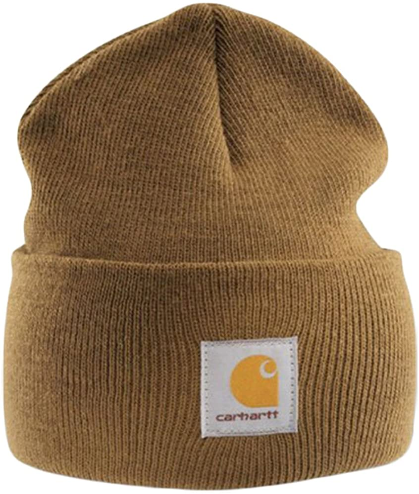 Carhartt Acrylic Watch Cap Light Brown Branded Beanie Ski Hat At Amazon Men S Clothing Store Skull Caps