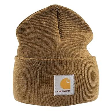 Carhartt - Acrylic Watch Cap - Light brown Branded Beanie Ski hat ... 6051889e057