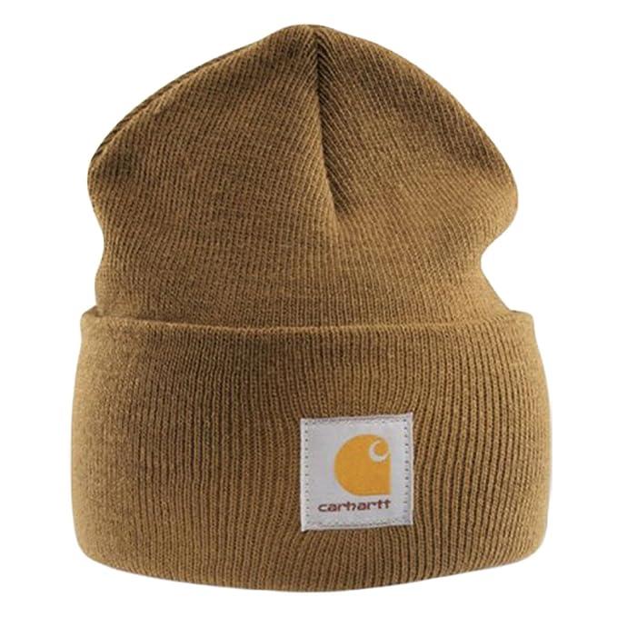 Carhartt - Acrylic Watch Cap - Light brown Branded Beanie Ski hat   Amazon.ca  Clothing   Accessories 316806b6cfd