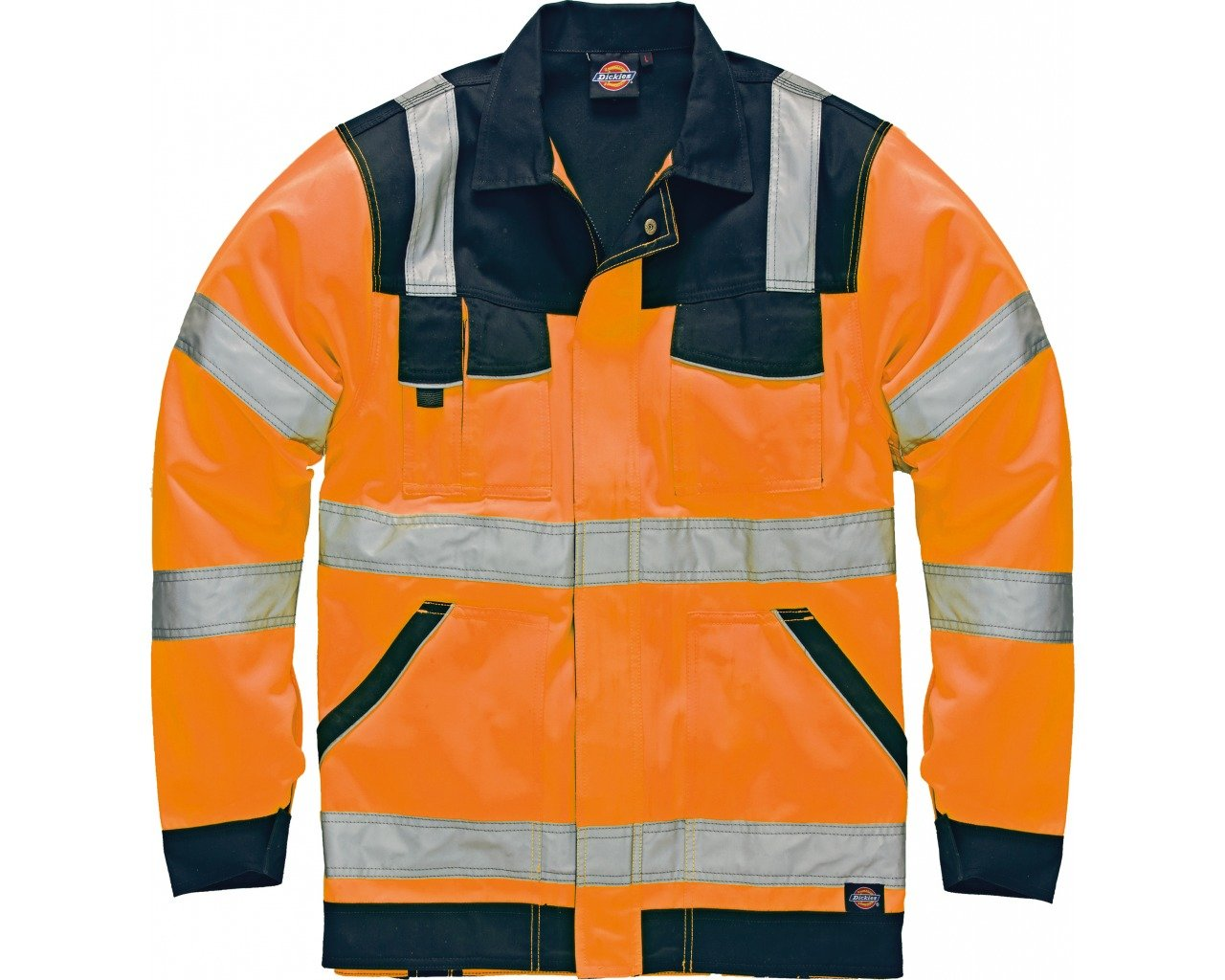 Dickies SA7000 ORNXL Size X-Large Waterproof Hi Vis Safety Coverall Orange//Navy Blue