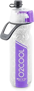 O2COOL ArcticSqueeze Insulated Mist 'N Sip Squeeze Bottle 20 oz., Purple