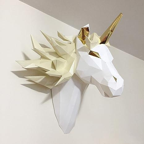 Amazon com: Sofs Designs 3D Mystic Unicorn DIY Paper Model