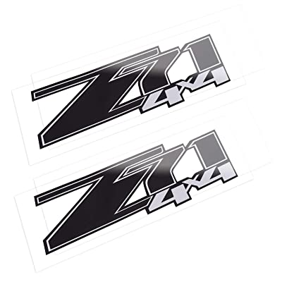 Z71 4x4 Decals Stickers for Chevrolet Silverado (2007-2013) 1500 2500 HD 2Pcs (Black): Kitchen & Dining