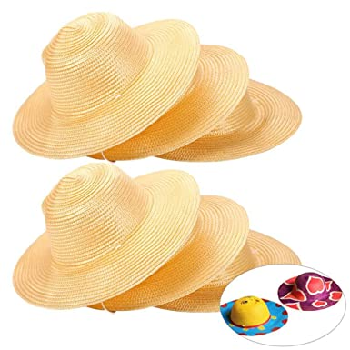 Image Unavailable. Image not available for. Color  6PCS Little Girls Straw Beach  Sun Hat ... 531da194567