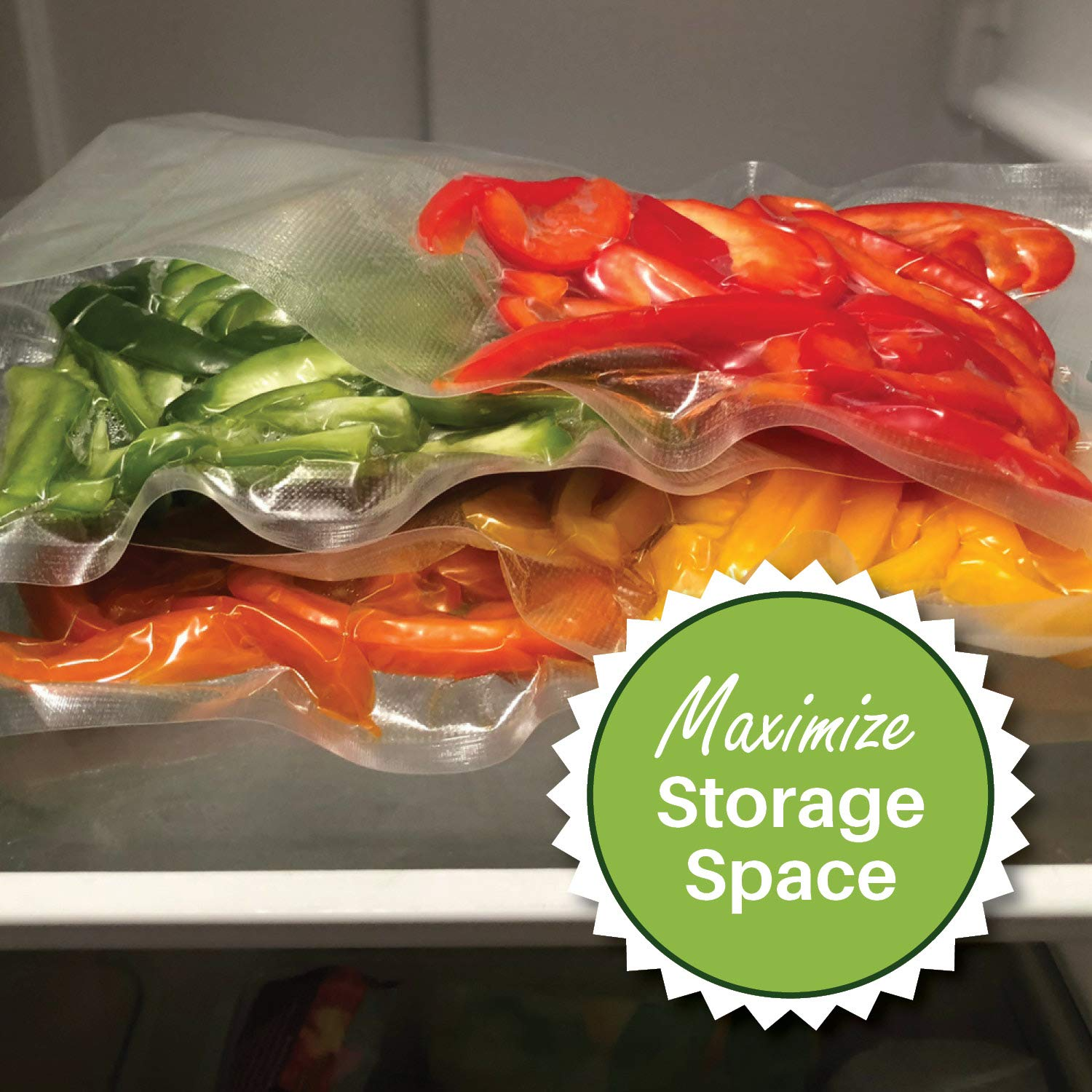 Better inch-per-inch value than rolls presealed on 3 side easy to use BPA Free Commercial Grade 4 mil 200 Quart Size 8X12 FoodVacBags Vacuum Sealer Storage Bags