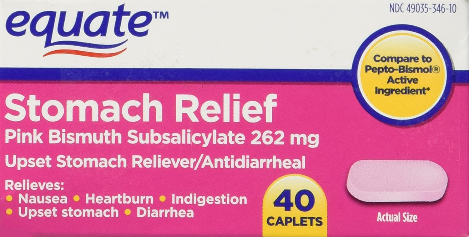 Amazon Equate Stomach Relief Caplets 40ct Compare To Pepto