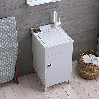 Bucaneve MarinelliGroup Mobile Bagno Classico 55 cm in Arte povera con lavabo Ceramica Specchio e Luce
