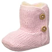 UGG Girls' I Purl Boot, Baby Pink, 1 M US Infant