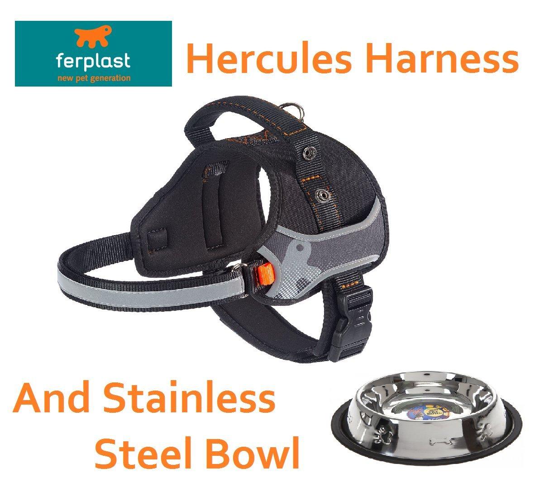 Ferplast Hercules extra grande professionale lavoro cablaggio del cane nero & antiscivolo Bowl