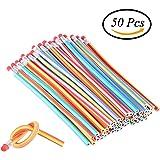 CCINEE 50 Pieces Soft Flexible Magic Bendy Pencils School Fun Equipment Children's Day Gift