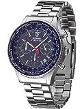 Detomaso Herren Herren-Firenze Quarz Uhr mit Beige Zifferblatt Chronograph-Anzeige und braun Leder Armband sl1624C-bg