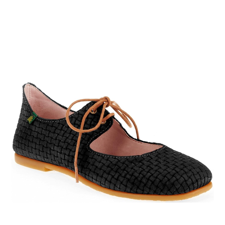 El Naturalista Women's Croche N960 Flat B009GCX730 40 EU/8.5-9 M US Suede Black