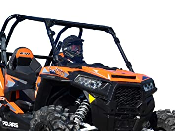 SuperATV Heavy Duty Clear Scratch Resistant Full Windshield for Polaris RZR XP 1000/1000 4
