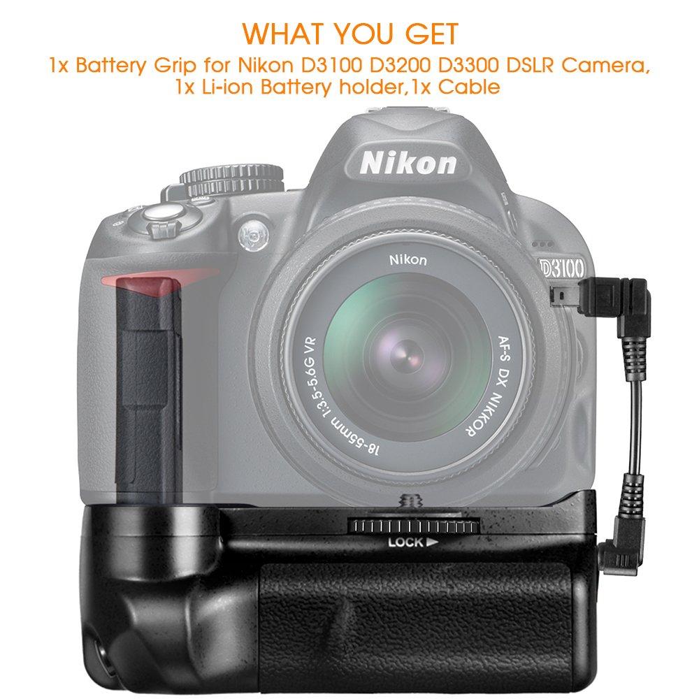 SAMTIAN BG-2F Grip de La Batería para Nikon D3100 / D3200 / D3300 ...