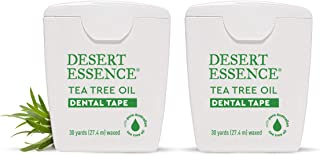 product image for Desert Essence Tea Tree Oil Dental Tape - 30 Yards - Pack of 2 - Naturally Waxed w/Beeswax - Thick Flossing No Shred Tape - On The Go - Removes Food Debris Buildup - Cruelty-Free Antiseptic