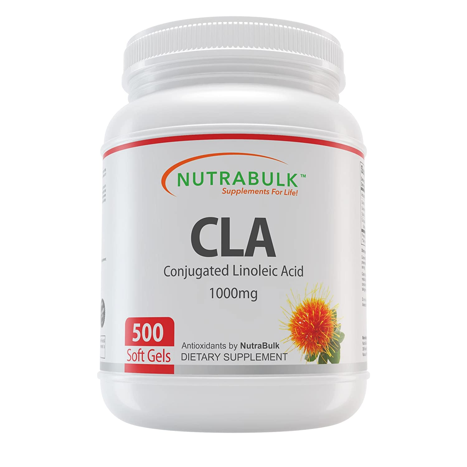 NutraBulk CLA Conjugated Linoleic Acid 1000mg Soft Gels – 500 Count