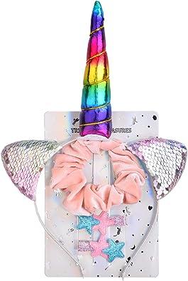 Costume Accessory Pink Girl Fancy Dress Pony Unicorn Headband /& Tail Set