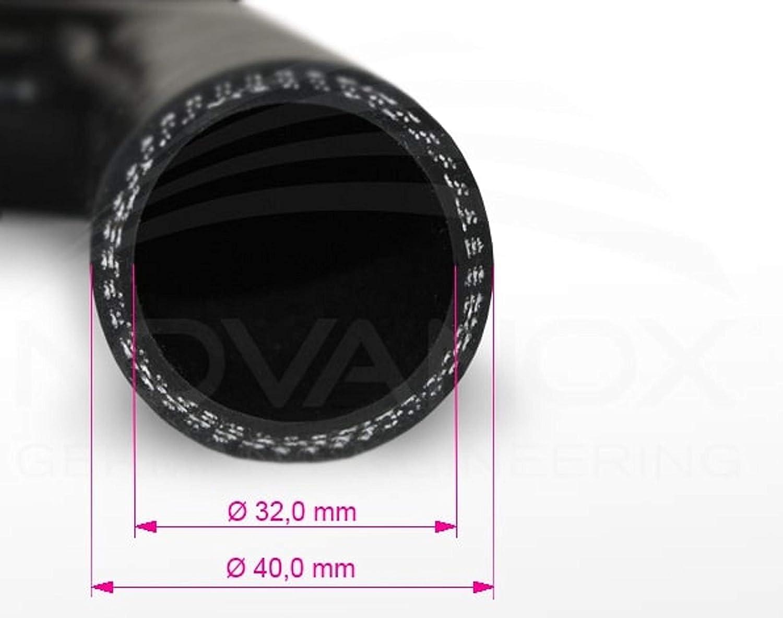 Farbe:Schwarz Innendurchmesser:/Ø 55 mm Gr/ö/ße w/ählbar Turbo Hose Verbinder Ladeluftschlauch flexibel Universal 90/° Bogen Silikonschlauch
