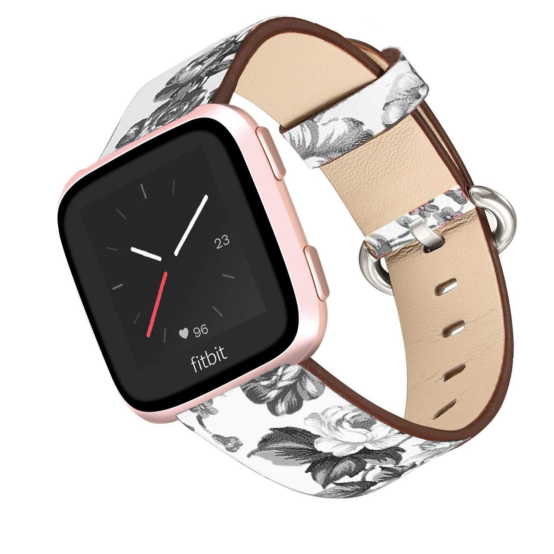 Mtozon Fitbit Versa Bands互換バンド クラシック 本革 リストバンド 交換用ベルト レディース メンズ S L 5.5\ カラーD B07H9CH7LJ