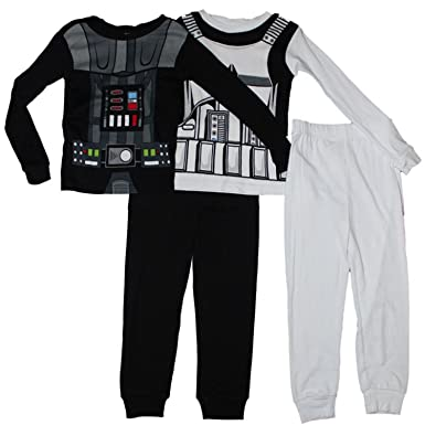 dffc9f473 Amazon.com  Star Wars Vader and Trooper Boys Pajamas 2-Pack 4-10 (6 ...