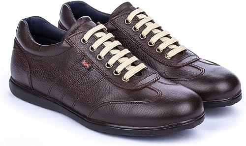 DCalderoni Aneto Chocolate Zapatos Marrones De Piel Casuales con Cordones para Hombre 40 50 EU