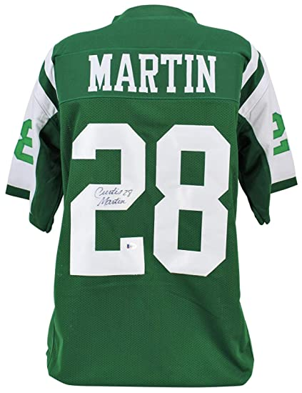 newest 087bd 5c954 Curtis Martin Signed Jersey - Green Beckett - Beckett ...