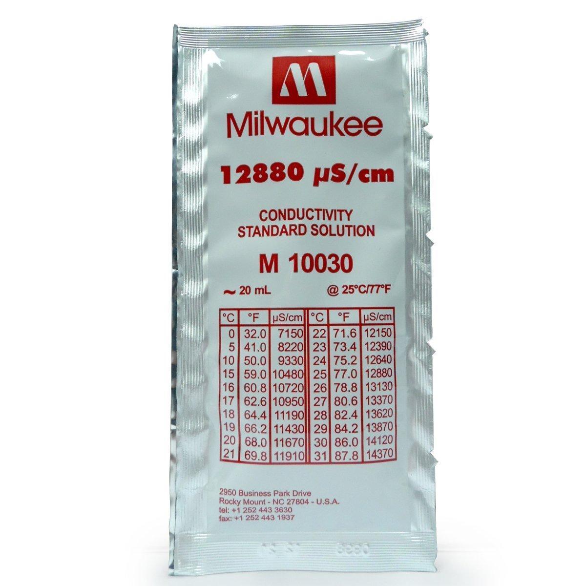Solución de calibración en sobre Milwaukee EC 12880 µS/cm de 20ml (MA10030)