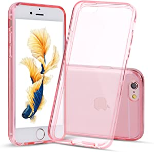 Shamo's Case iPhone 6 Plus and iPhone 6S Plus Transparent Shock Absorption TPU Rubber Gel (Pink)