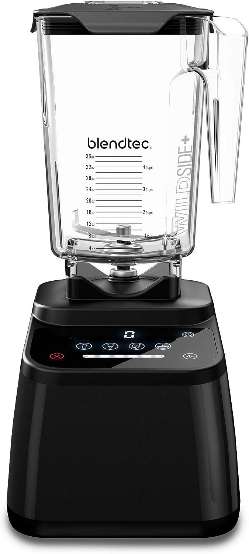 Blendtec Designer 625 Blender - WildSide+ Jar (90 oz) - Professional-Grade Power - 4 Pre-Programmed Cycles - 6-Speeds - Black (Renewed)