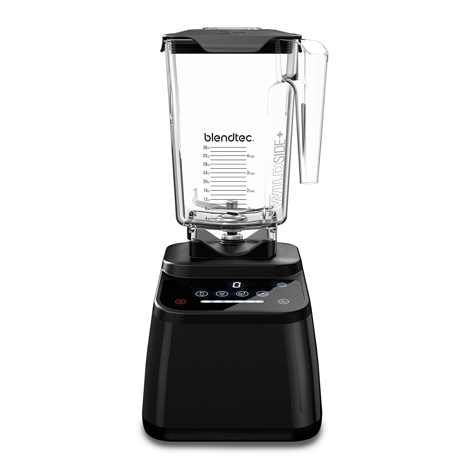 Blendtec Designer 625 Blender - WildSide+ Jar (90 oz) - Professional-Grade Power - 4 Pre-Programmed Cycles - 6-Speeds - Sleek and Slim - Black