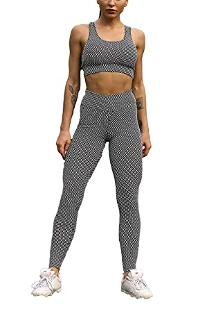 New Women's Sportswear Set Crop Top And Leggings Stretch-fit Ladies Gym Wear Set Tracksuits & Sets