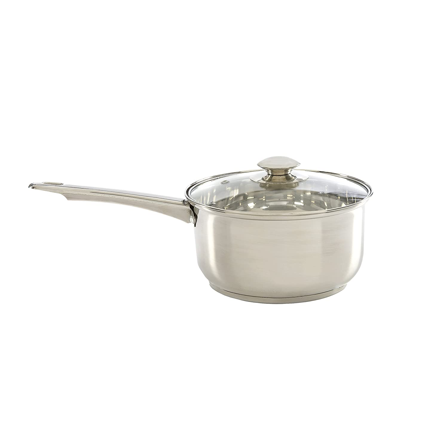 Ecolution Pure Intentions Stainless Steel 2-Quart Saucepan with Glass Lid Epoca Inc. ESTL-2818