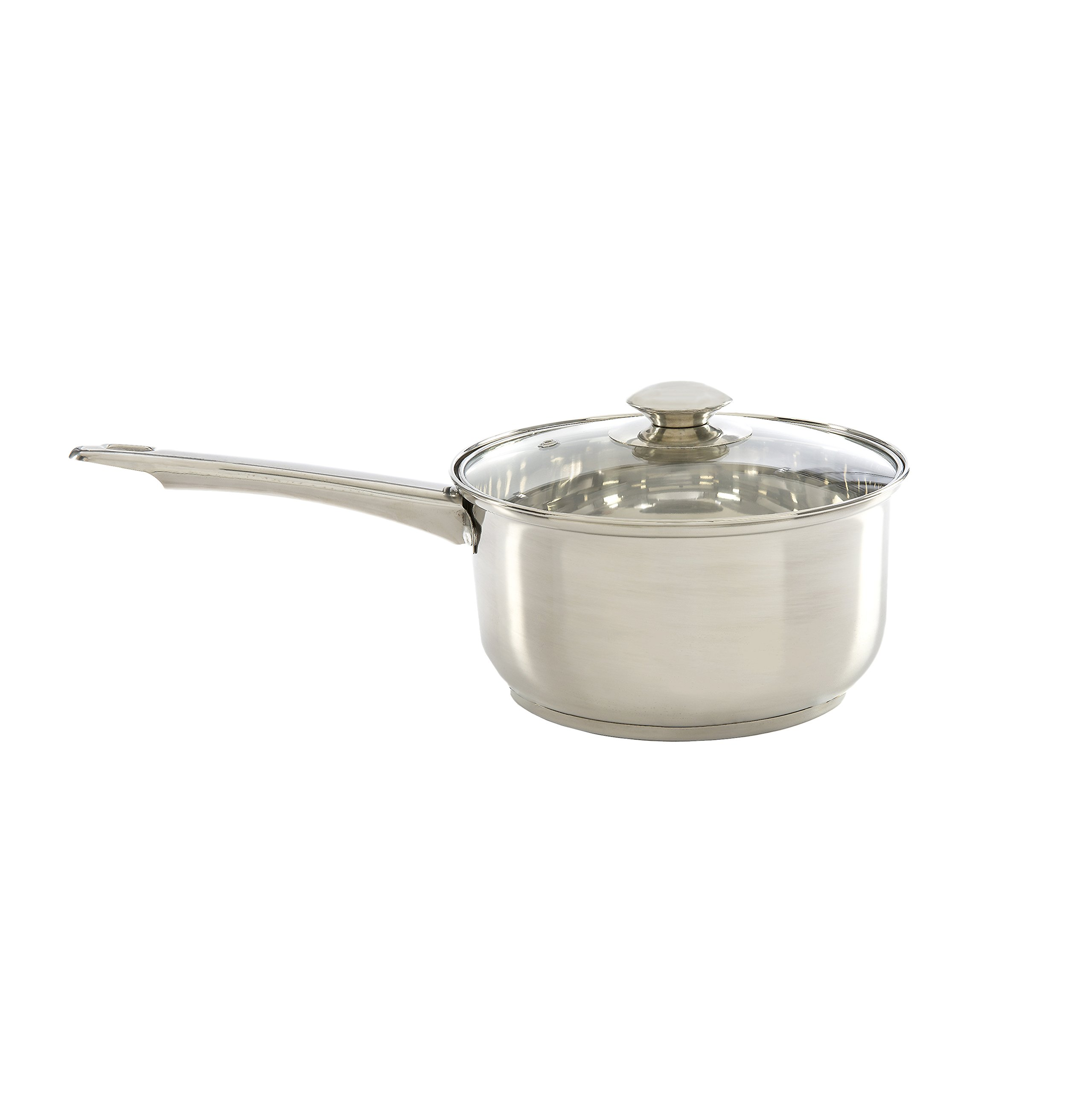 Ecolution Pure Intentions Saucepan 2 Quart - Vented Tempered Glass Lid - Stainless Steel