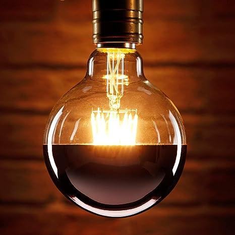 Auraglow Mysa Bombilla LED - Efecto Vintage Decorativo de Filamento con Recubrimiento de Cobre y Tapa