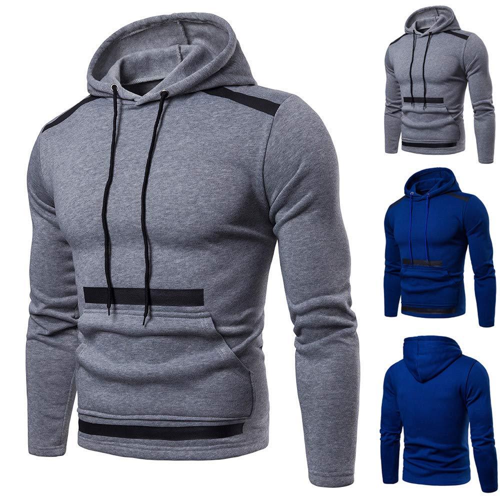 Hunputa Men's Blouse,Fashion Men's Long Sleeve Autumn Winter Patchwork Hoodies Top Blouse Tracksuits Hunputa Men's Blouse Hunputa-UH