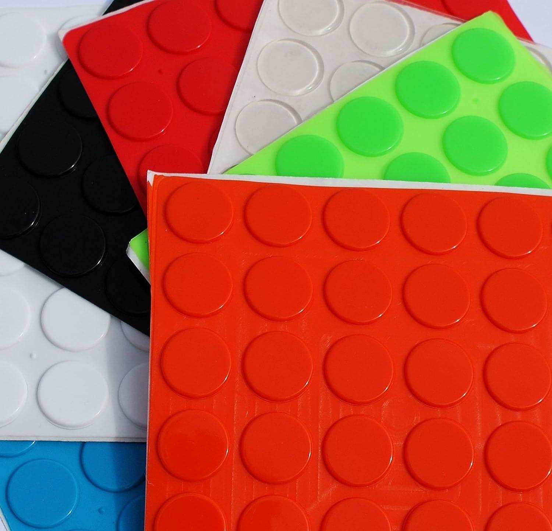 Grande 3 M Pies de goma Bumpons tapones ~ 20 mm de diá metro x 2 mm altura ~ negro, transparente, color blanco, azul, verde, rojo, naranja Simply the Best