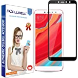 CELLBELL Full Glue Edge to Edge Tempered Glass Screen Protector with Installation Kit for Xiaomi Redmi Y2/ S2 (Black)