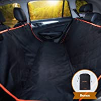 iBuddy Dog Seat Cover Hammock for Back Seat of Cars/SUV, Waterproof Dog Car Seat Covers with Padded Cotton, Anti-Scratch, Nonslip, Washable Durable Pet Seat Cover