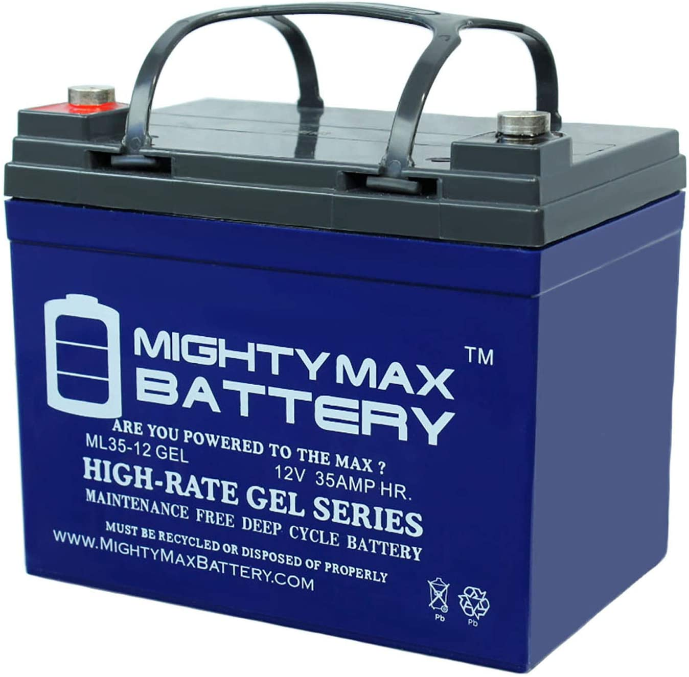 Mighty Max Battery 12V 35Ah Gel Battery Replacement for John Deere 425 Lawn and Garden Brand Product