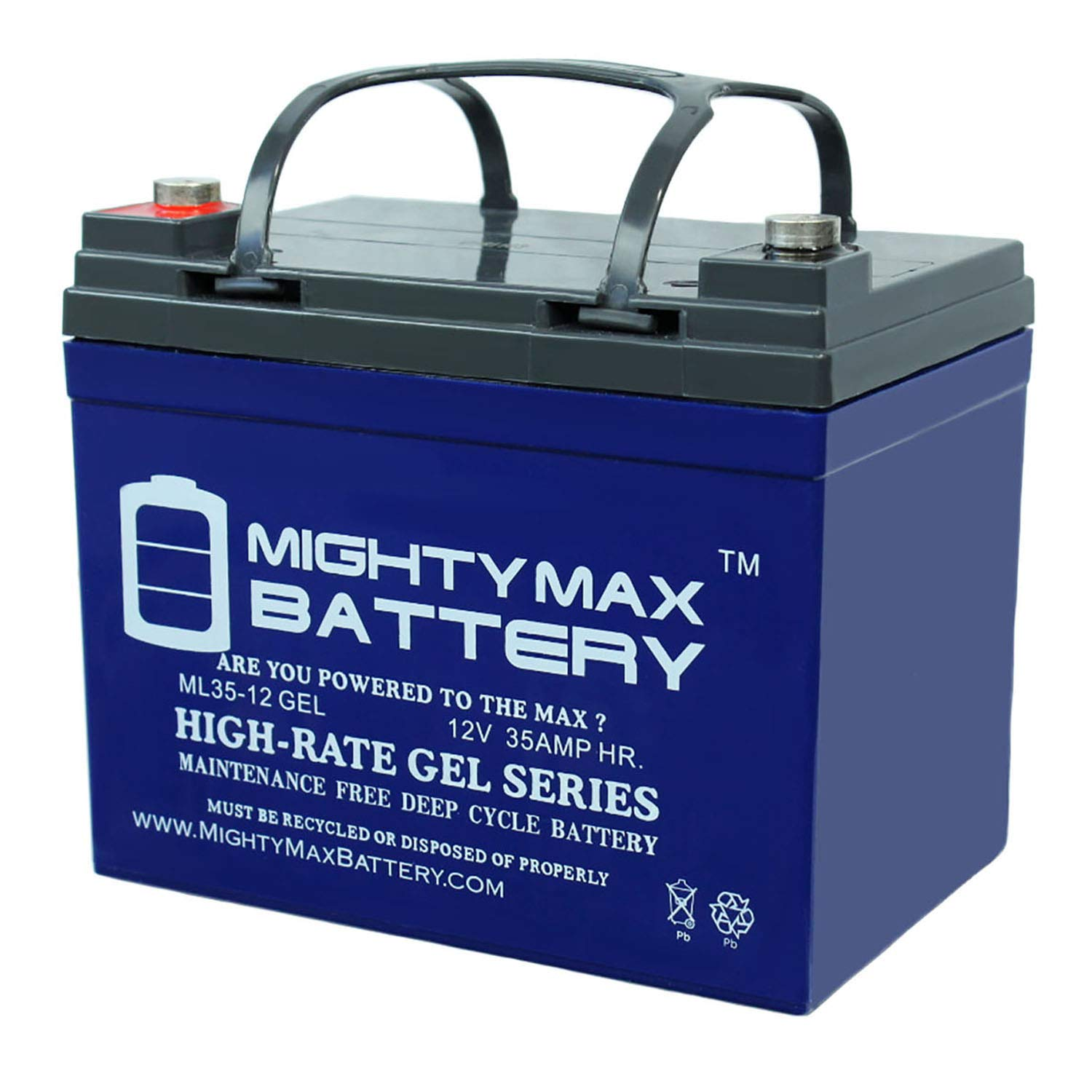 Amazon.com: Mighty Max Battery 12V 35AH Gel Battery Replaces ... on troy-bilt pony parts diagram, troy-bilt pony drive belt diagram, wheel horse rototiller belt diagram,