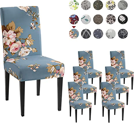 Boho Stretch Floral Dining Chair Covers Wedding Banquet Party Decor Seat Cover