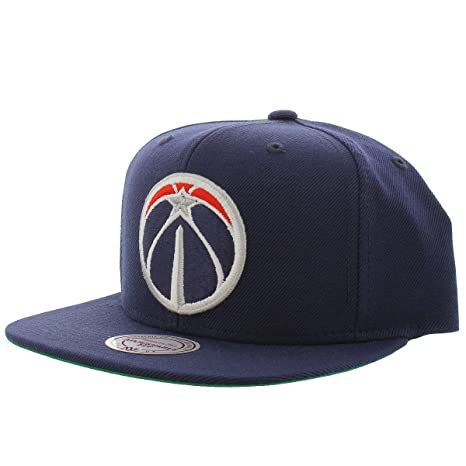 7ab3bf970e Amazon.com   Washington Wizards SOLID SNAPBACK Mitchell   Ness NBA ...