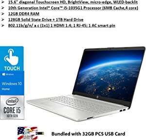 2020 Newest HP 15 Laptop Intel Quad-Core i5 1035G1 Up to 3.6GHz 15.6