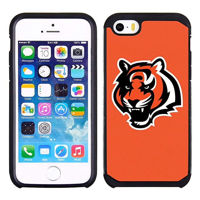 best website 6a89c ae4a1 Prime Brands Group Textured Case with Team Color Design for Apple iPhone SE  / 5s / 5 - NFL Licensed Cincinnati Bengals