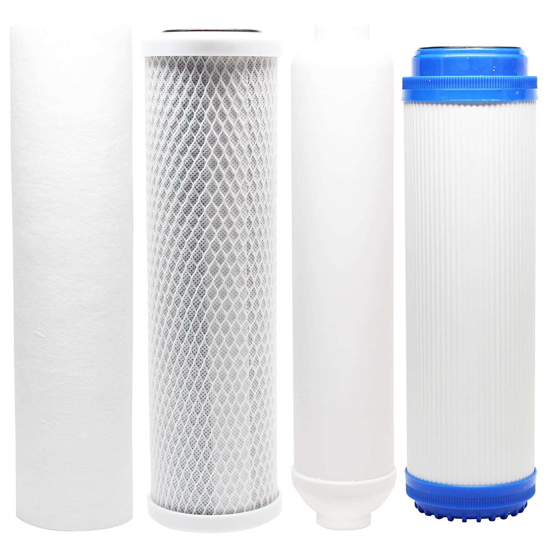 Kit de filtro de repuesto para Expres agua rodi5dg Ro sistema–incluye filtro de bloque de carbón, PP filtro de sedimentos, GAC Filtro en línea filtro cartucho láser–Denali Pure marca