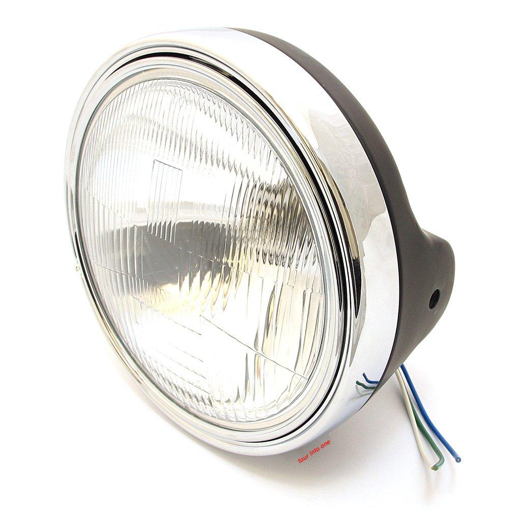 Universal 7'' Halogen Headlight Assembly - Flat Black