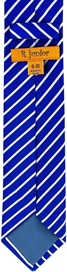 8-10 years Various Colors Retreez Thin Regimental Striped Woven Boys Tie