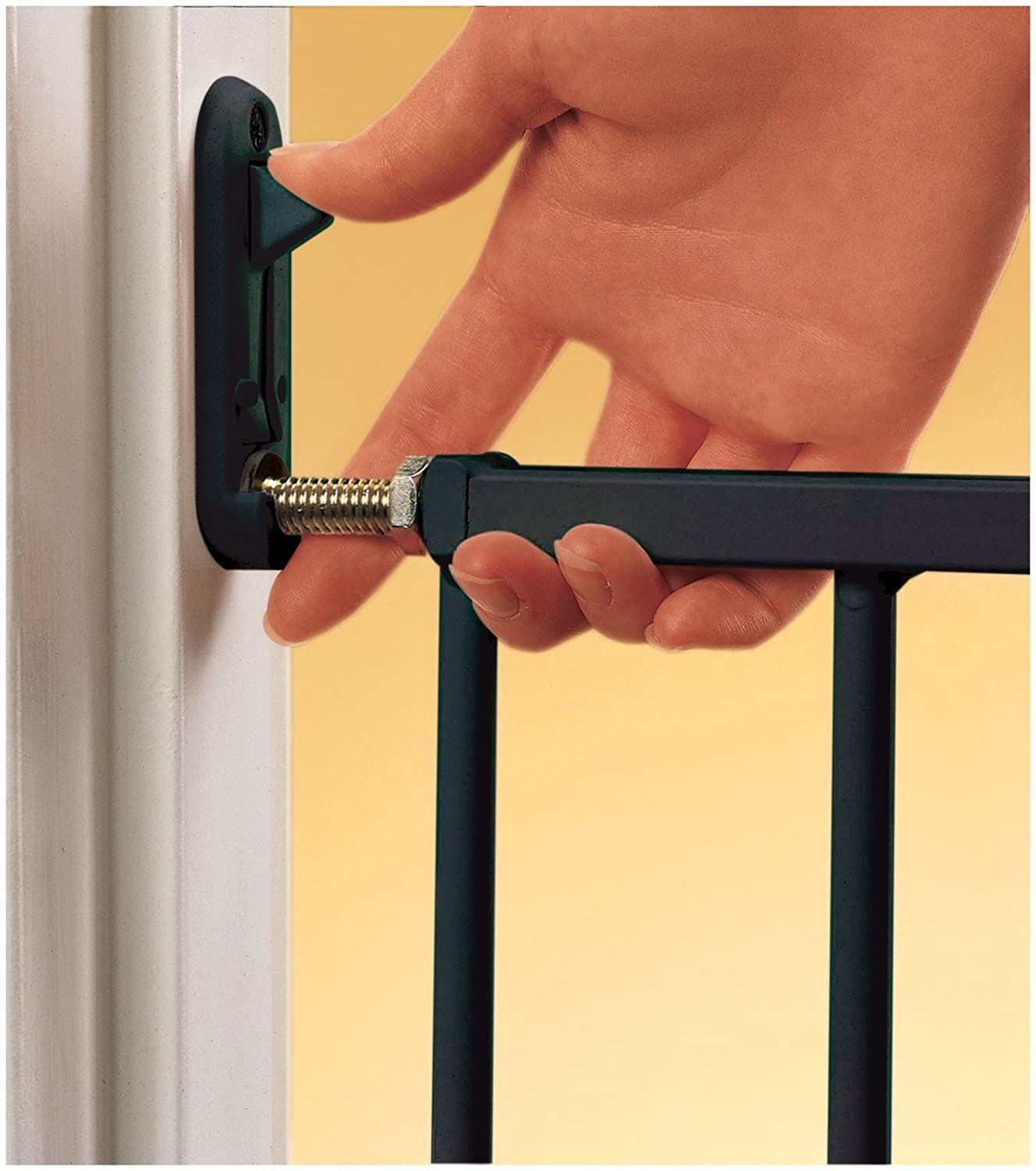 Amazon.com : Kidco Safeway Gate, Top of Stairs Gate, Black : Baby
