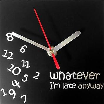 Reloj de pared - Texto en inglés